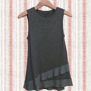 Banana Republic Sleeveless Mixed Media Layer Hem